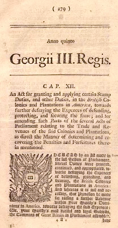 Parliament_Stamp_Act1765